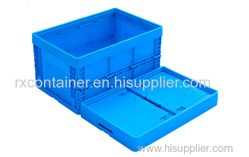 Plastic storage folding box for industry use