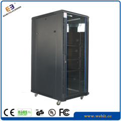 Perforated door network cabinet
