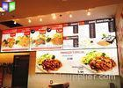 Restaurant Curved Menu Boxes Lighted Menu Board Environmental Protection