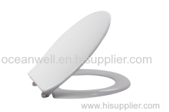 European shape WC Toilet Seat with Metal Hinge for bathroom