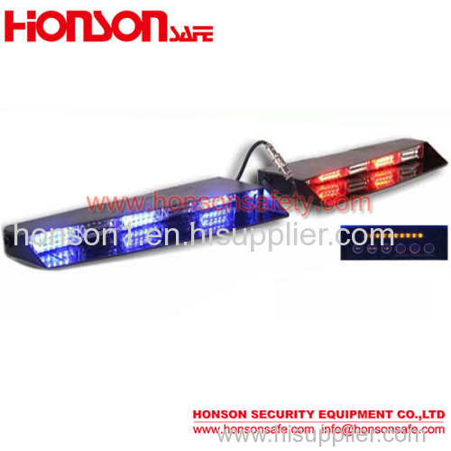 DC12-24V LED Strobe Visor traffic warning light Bar Windshield Suction cup Mount