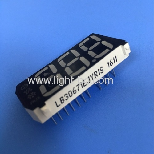 Custom multicolour triple digit 7 segment led display for refrigerator control panel