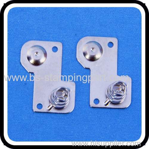 AA battery spring contact for PCB metal stamping battery spring contact