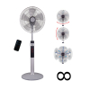 16-inch Super 8 Digital Stand Fan with Remote Control