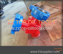 API Wellhead hammer union crossover Y male 90 degree
