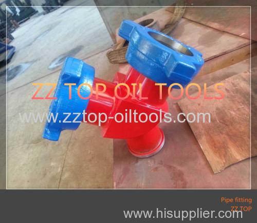 API Wellhead hammer union crossover Y male 90 degree