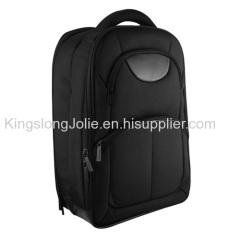 Black waterproof large capacity notebook backpack