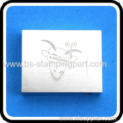 Customized metal stamping shield cover with stamped logo