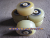 3 inch solid small pu rubber wheel bearings