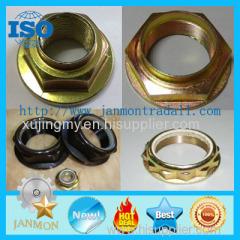 Hexangular Flange Type Lock Nut Tower Type Nut Zinc galvanized hex flanged type lock nut Black nylon lock nut Lock nuts