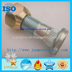 Customized High Strength Zinc Plated Wheel Bolts and Nuts For Tractor auto wheel hub bolt auto fasteners truck hub bolt