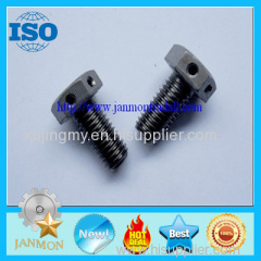 Customized Special Hex Head Bolt With Holes in it (as drawing)Black hex bolt with hole grade 8.8 10.9 12.9 Hex head bolt