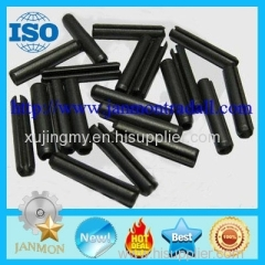 black slotted spring pin