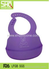 washable Silicone kids bib/silicone baby bib