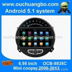 Ouchuangbo car gps radio stereo for mini cooper android 7.1quad core mirror link 2GB ram