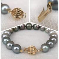 G14 sea pearl Tahiti pearl bracelet