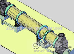 Industrial mica chicken manure coal rotary dryer