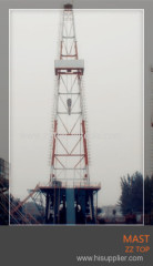 Oil well drilling rig mast K type JJ170