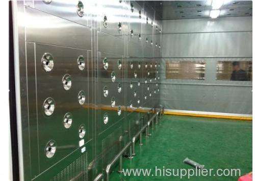 Cleanroom stainless steel air shower tunnel