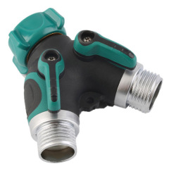 Garden 3-way hose connector with Valve