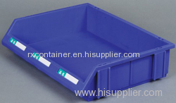 Industrial stackable combined plastic storage bin