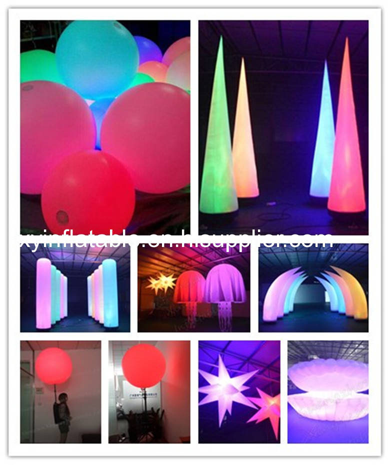 Inflatable lighting product--light up your event