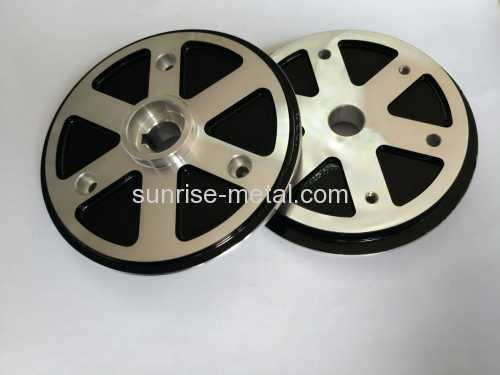 Black powder coating die casting parts
