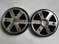 Aluminum Tire airless rim die casting parts with CNC machining
