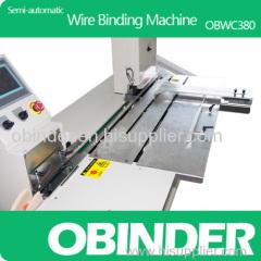 Obinder Semi-automatic desk calendar wire o binding machine