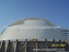 Coal storage shed steel space frame dome steel structure