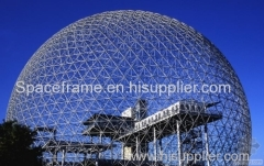 Steel structure roof space frame dome for dry coal shed