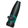 2-way garden water spray nozzle with soft grip