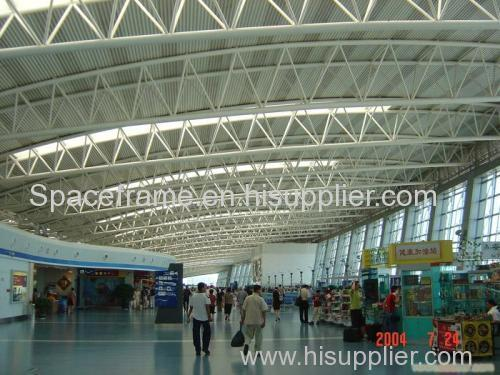 Airport Terminal Waiting Room with Light Steel Truss Roofing Sheet