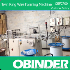 Obinder Double Wire O forming machine from customer factory