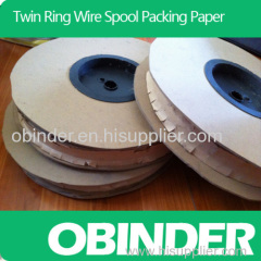Obinder twin ring wire spool package paper material