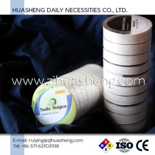 china factory oem cleaning nonwoven wipes compressed dia.4.5cm 10pcs/roll disposable