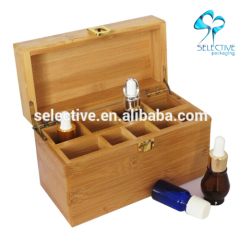 empty BAMBOO wood gift packaging box