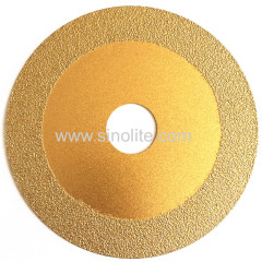Diamond electroplated saw blade titanium finish