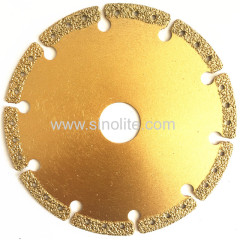 Diamond electroplated cutting wheel