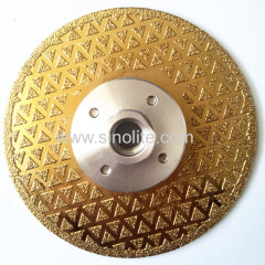 Diamond Electroplated Saw Blade Titanium finish 4-1/2 (115mm)