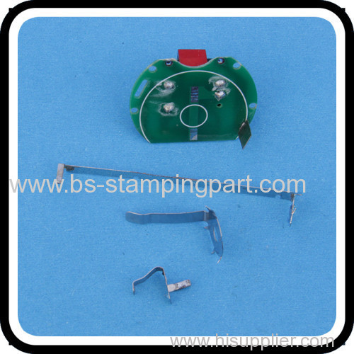 stainless steel battery clip for PCB mounted