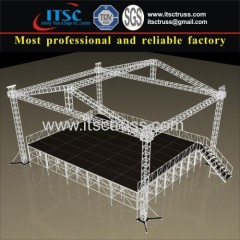 12X10M 4 Pillars Aluminum Lighting Trussing Roofing with Black Stage System