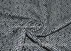 Fancy Tweed Wool Blended Fabric Black and White wool beautiful clothes