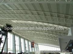 Steel truss structure waiting room hall galvanized roof