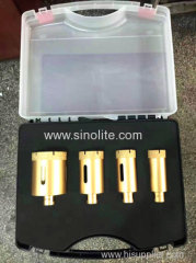 4pcs of diamond brazed core bit