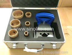 7pcs Diamond brazed core drill set