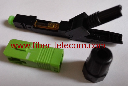 SC/APC fast connector type A for FTTH solution
