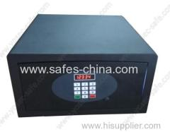 High quality Laser cut hotel safe with flat keypad panel and motorized locking mechanism