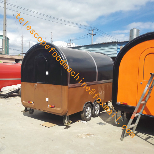 Double axles fast food cart burner stove mobile food trailer