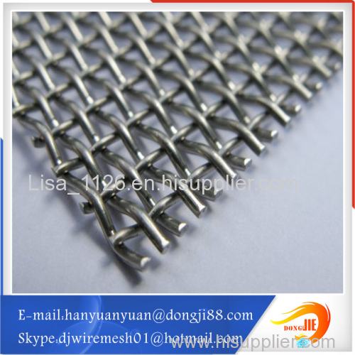 Practical and Abrasion Resistance 10 gauge architectural crimped wire mesh stainless steel mesh